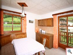 Wohnküche in der Ferienwohnung Sonnenblume